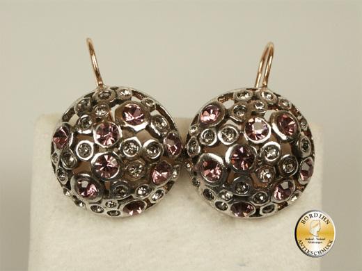 Ohrhänger 925 Silber vergoldet Strass Ohrring Damen Schmuck Geschenk