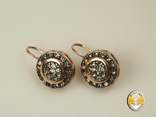 Ohrringe Ohrhänger Silber vergoldet Strass Ohrschmuck Damen Geschenk
