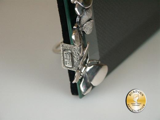 Bilderrahmen; 800 Silber, mit geschl. Glas, gr. Schmett