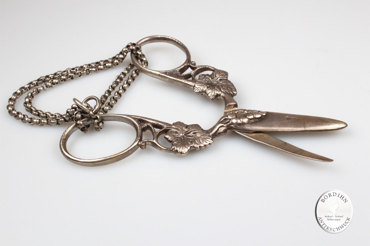 Trauben Schere 800 Silber Kleinkunst Sammler Tafelsilber antik