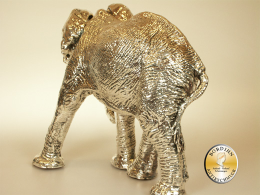 Elefant 925 Silber Wachskern elektrolytisches Verfahren Tier Skulptur