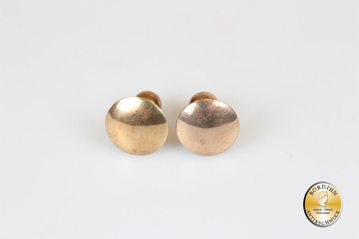 Frackknöpfe; 14 Karat Gold, antik