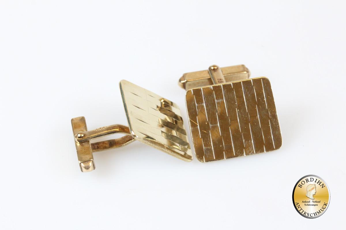 Manschettenknöpfe; 8 Karat Gold
