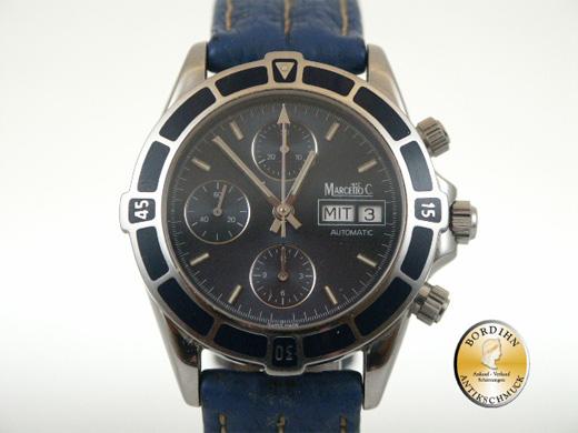 Armbanduhr Marcello C Stahl Automatic Chronograph Uhr Herrenuhr