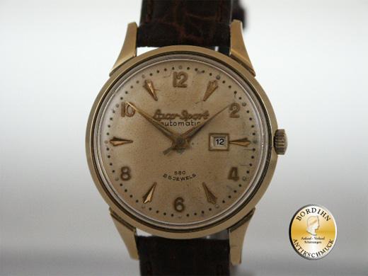 Armbanduhr; Laco Sport, Automatik, Stahl, um 1960