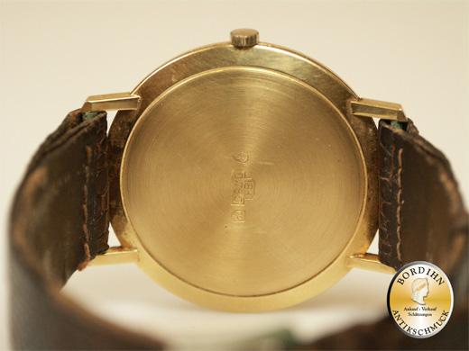 Armbanduhr 18 Karat Gold Marke EMKA Schweiz Herrenuhr Geschenk