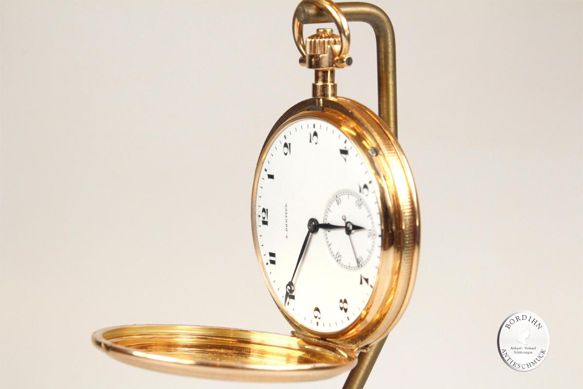 Taschenuhr IWC Schaffhausen 14 Karat Gold Savonnette Russland Uhr