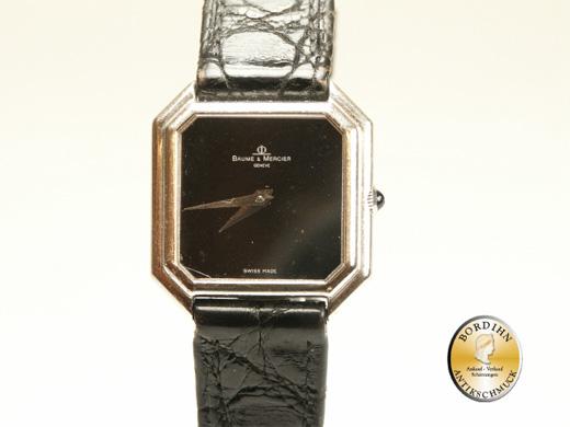 Armbanduhr; 18 Karat WG, Baume'Mercier, Geneve, um 1970