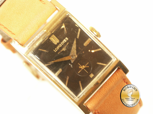 Armbanduhr 14 Karat Gold Longines Art-Deco um 1940 Uhr mechanisch