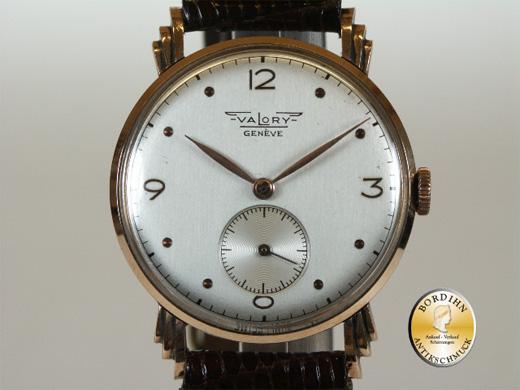 Armbanduhr; Valory Genf, 14K Gold, Sekunde (Handaufzug)