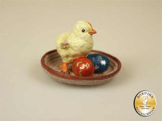 Wiener Bronze, Küken im Nest mit Ostereiern