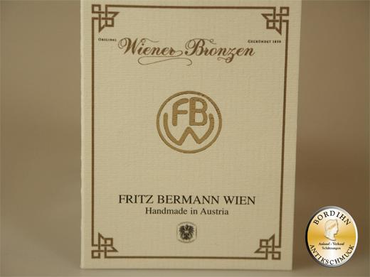 Wiener Bronze Katze im Eimer Maus original Fritz Bermann Sammler Figur