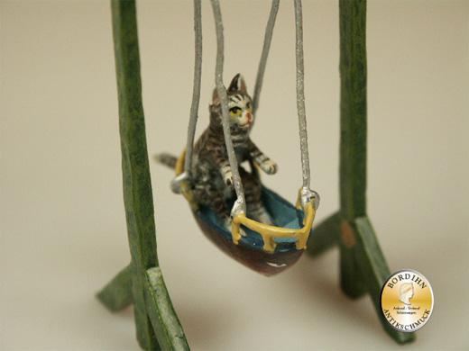 Wiener Bronze, Katze Schaukelboot