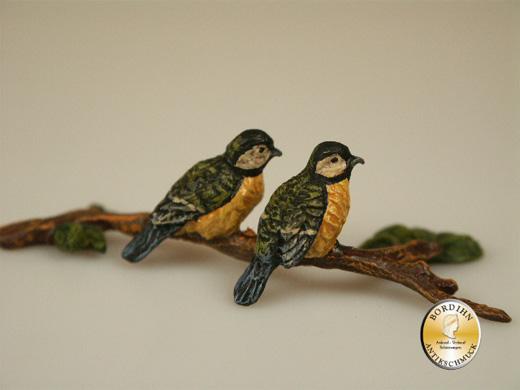 Wiener Bronze, Vögel auf Ast