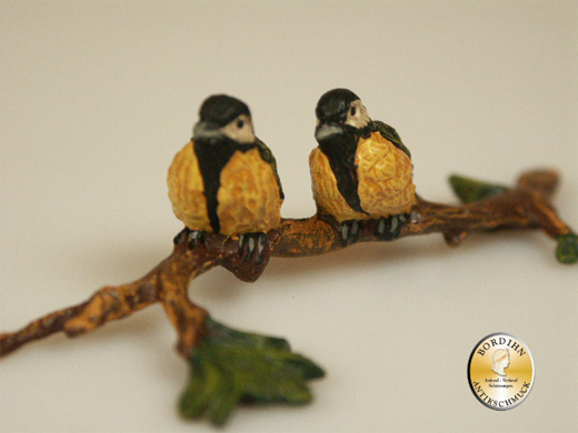 Wiener Bronze Vögel auf Ast Kunst Sammler Figur Fritz Bermann