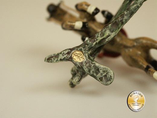 Wiener Bronze, Reiter Pferd-Hürde