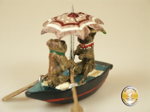 Wiener Bronze, Möpse im Boot