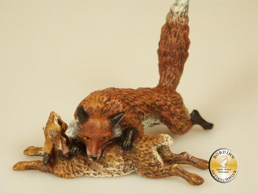 Wiener Bronze, Fuchs mit Hase