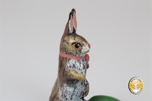 Wiener Bronze Hase mit drei Eiern original Fritz Bermann Skulptur