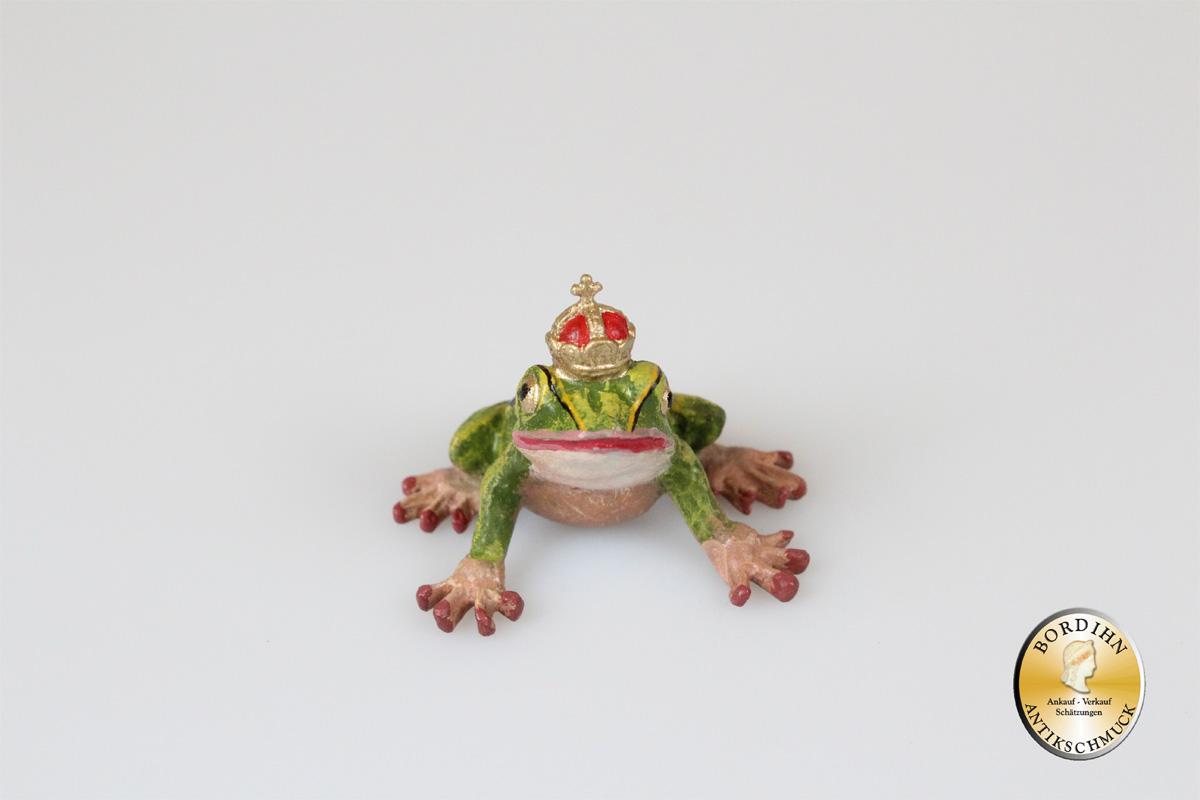 Wiener Bronze Froschkönig Original Sammlerfigur Kunsthandwerk Geschenk