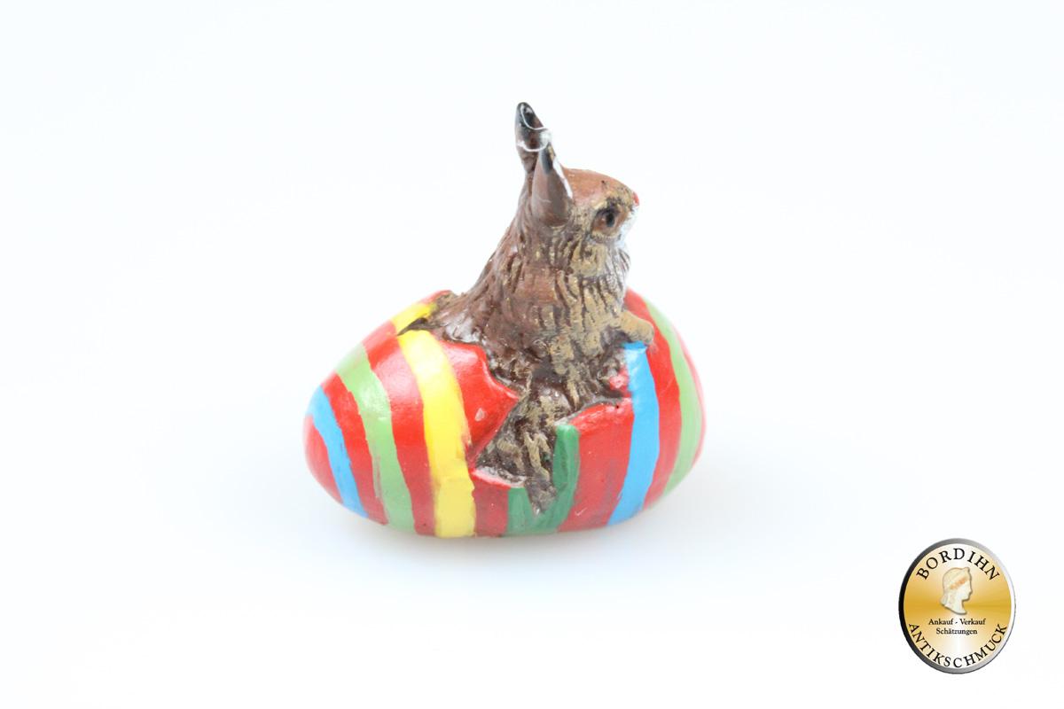 Wiener Bronze Hase Eierschale Miniatur Original Fritz Bermann Bronze