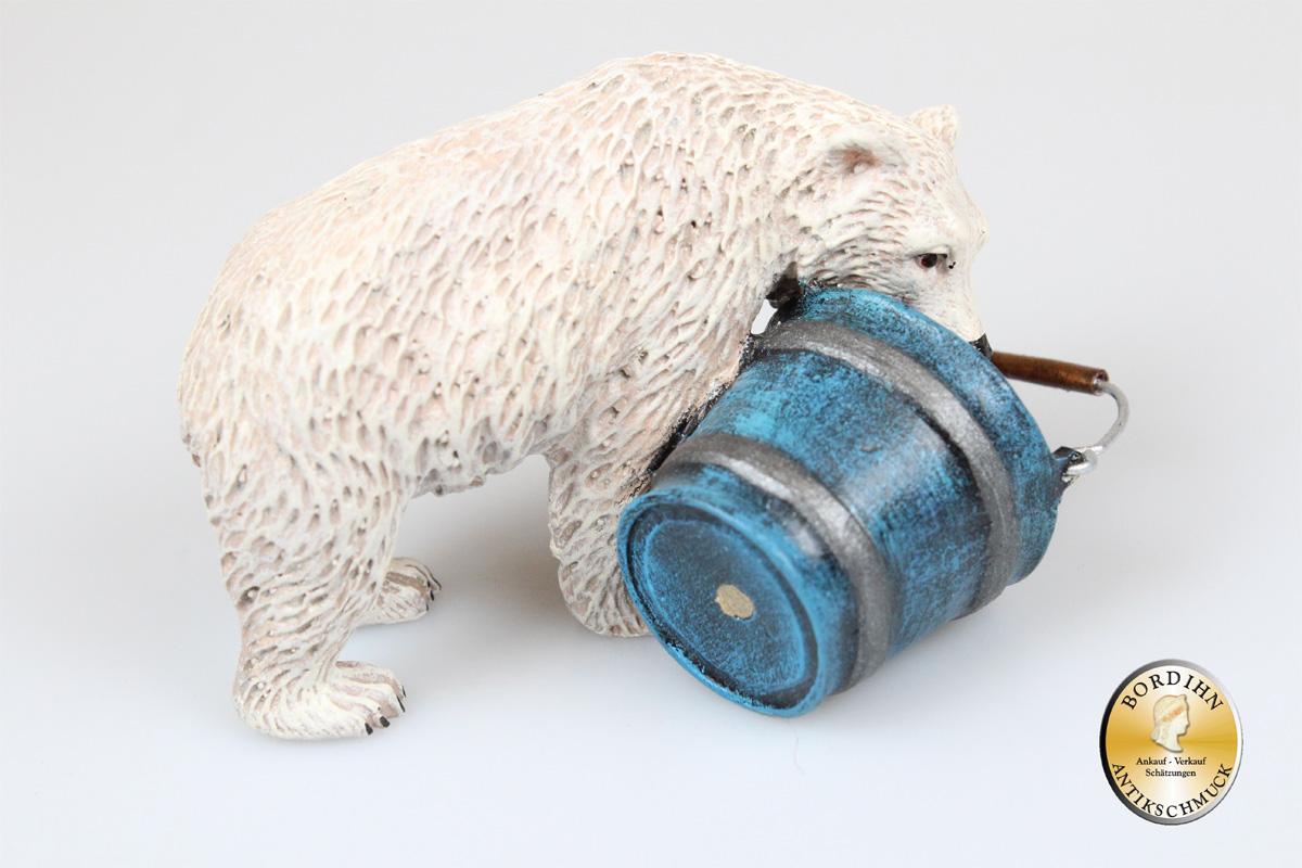 Wiener Bronze; Eisbär mit Milcheimer