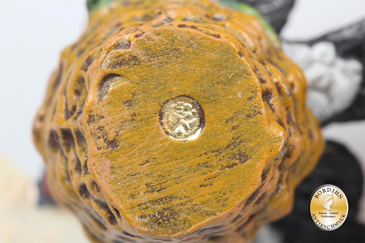 Wiener Bronze; Schwalbe mit Blumenkorb, Brief