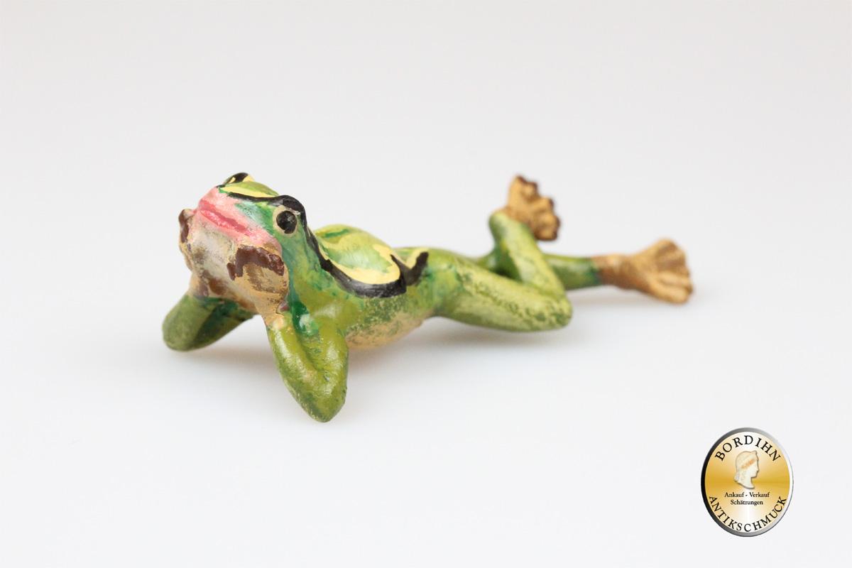 Wiener Bronze Frosch liegend Kunst Sammler Figur Fritz Bermann