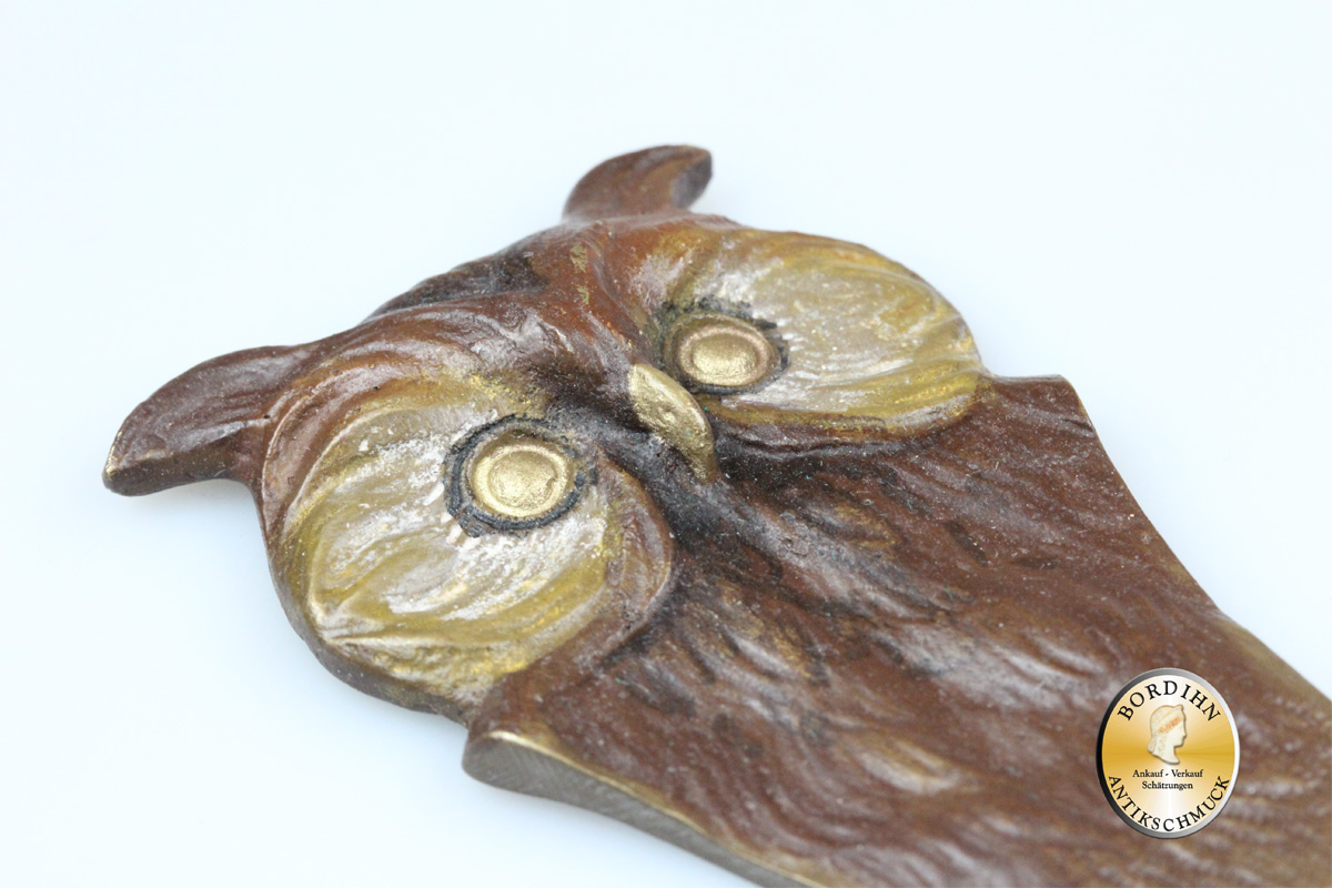 Wiener Bronze; Brieföffner als Eule