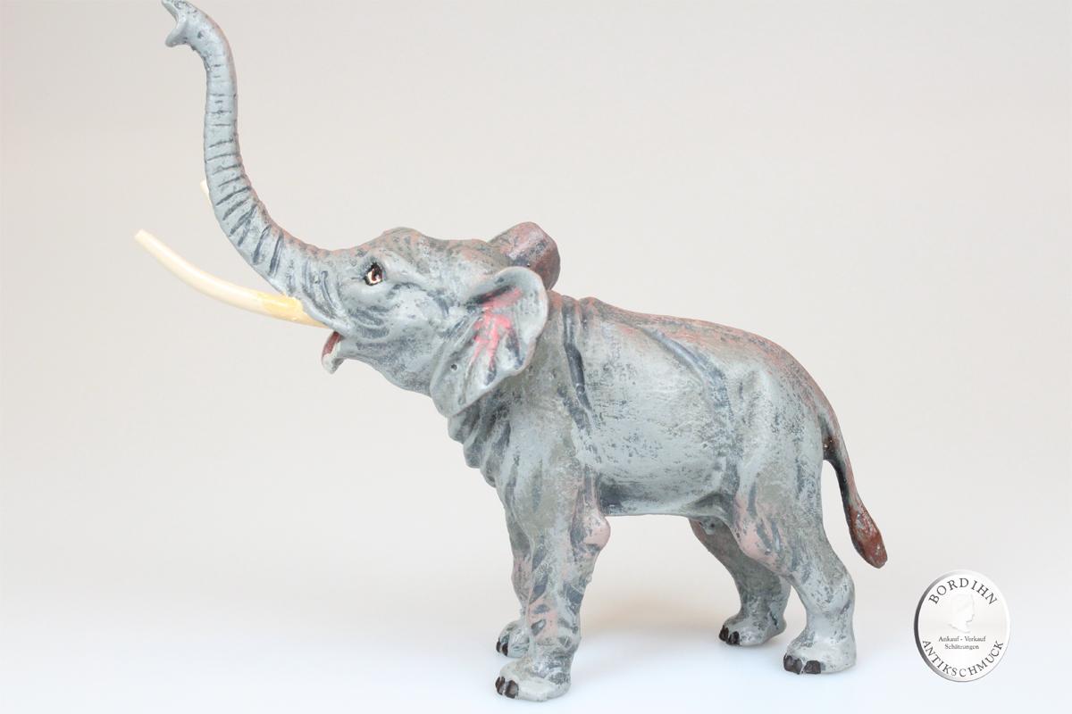 Wiener Bronze Elefant groß 10cm original Fritz Bermann Skulptur