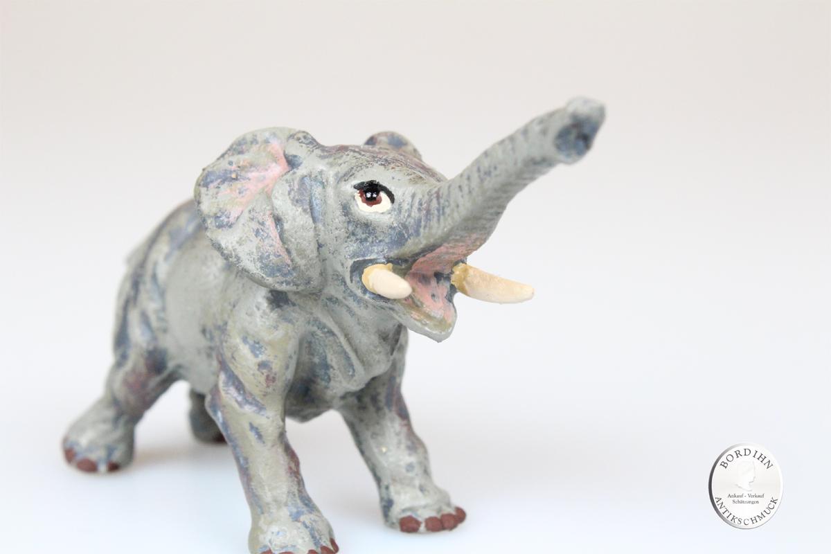 Wiener Bronze Elefant Rüssel gestreckt original Fritz Bermann Skulptur