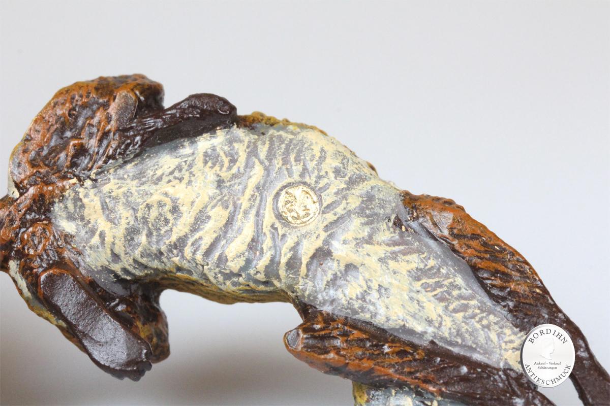 Wiener Bronze Fuchs liegend Kunst Sammler Figur Fritz Bermann
