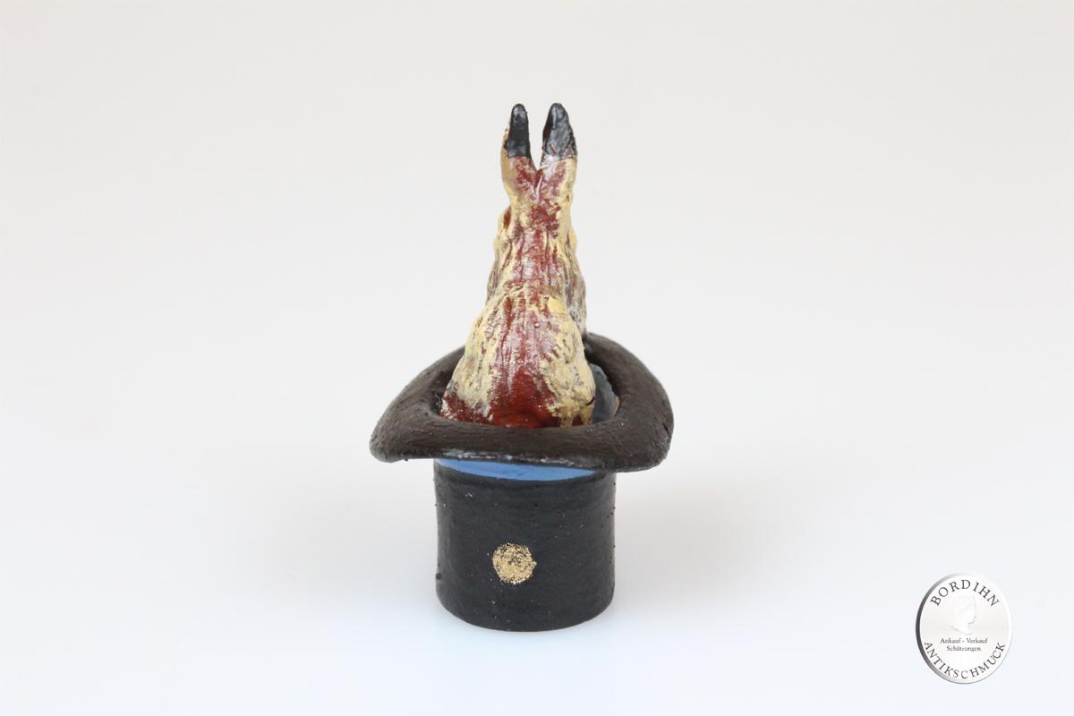 Wiener Bronze Haase Zylinder Kunst Sammler Figur Fritz Bermann