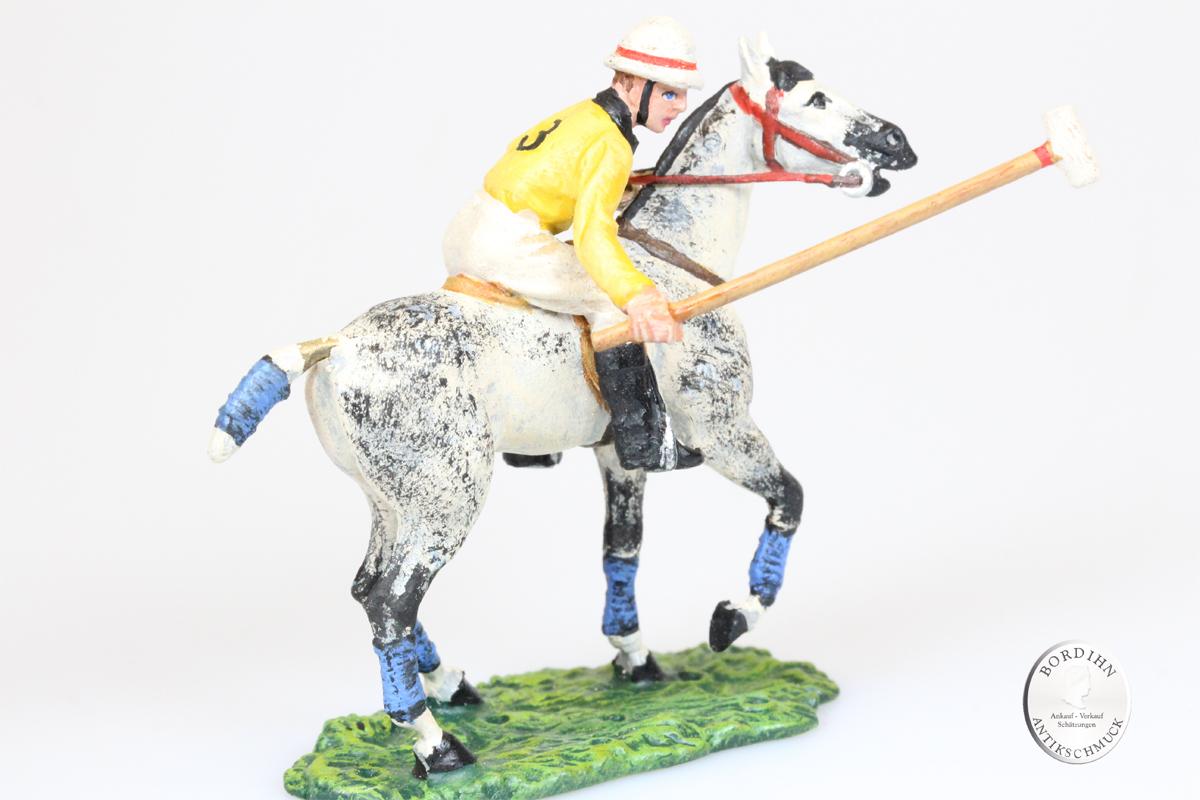 Wiener Bronze Polospieler gebückt Vorderfuß gehoben Kunst Sammler Fritz Bermann