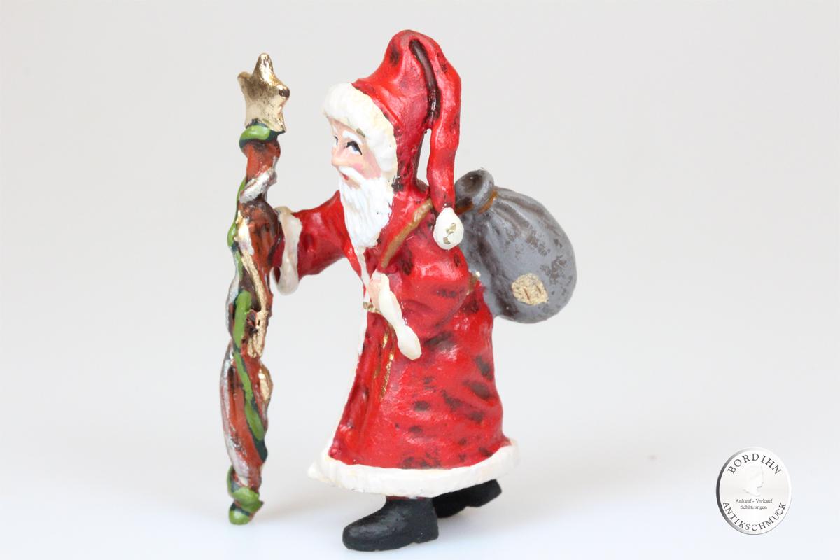 Wiener Bronze Weihnachtsmann groß Kunst Sammler Figur Fritz Bermann
