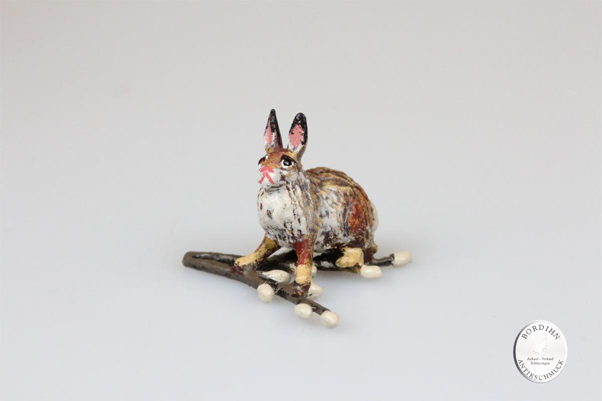 Haase klein bei Palmkätzchen Kunst Sammler Figur Fritz Bermann