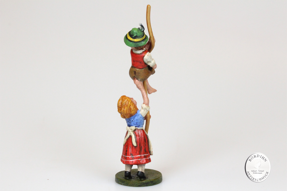 Wiener Bronze Hänsel und Gretel mit Seil Kunst Sammler Figur Fritz Bermann